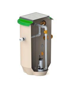 900 litre single pump
